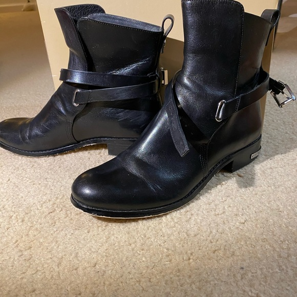 Michael Kors Arley Ankle Flat Boot Leather